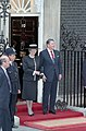 President Ronald Reagan and Margaret Thatcher Posing for Photos During His Trip to The United Kingdom and Their Arrival at 10 Downing Street.jpg