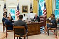 President Trump and The First Lady Receive a Hurricane Briefing (48188343987).jpg