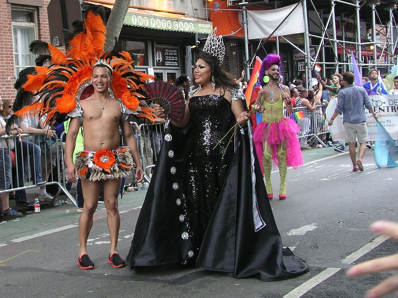 The New York Gay Pride March is a celebration of