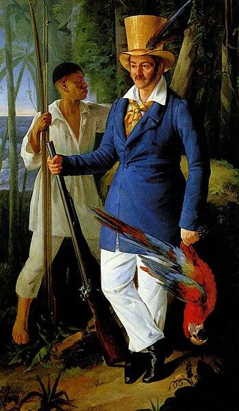File: Prince Maximilian zu Wied-Neuwied with Joachim Quäck on the hunt in the Brazilian jungle.jpg