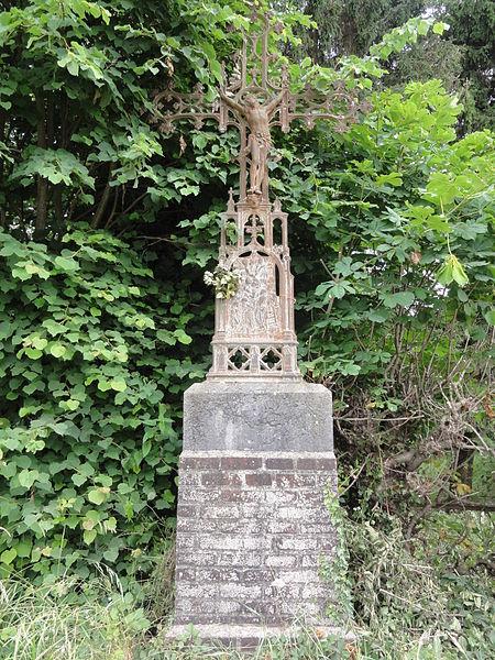 Proisy (Aisne) croix de chemin (fer)