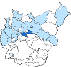 Location of Halle-Merseburg