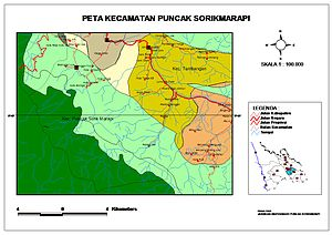 Mandailing Natal Regency - Subdistric Sorikmarapi Highland with Batang Gadis National Park