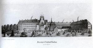 Lubiąż - The Irrenheil-Anstalt Leubus in 1870