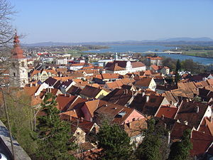 Птуй: Ptuj from the castle