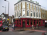 A city pub (World's End), Camden Town, London