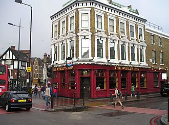 Pub - A city pub, The World's End, Camden Town, London