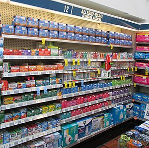 "Puerto Rico — San Juan — Shelves with ""Allergy-nasal"".JPG"