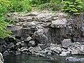 Quartz tholeiite basalt lava flow (flow B, Two Harbors Basalts, North Shore Volcanic Series, Mesoproterozoic, 1097-1098 Ma; Burlington Bay, Two Harbors, Minnesota, USA) 2 (22288596640).jpg