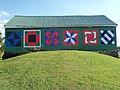 Quilt blocks on bank barn 2.JPG