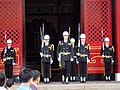 ROCN Honor Guard changing of the guard, National Revolutionary Martyr's Shrine 20051220.jpg