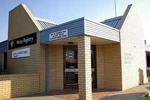 Roads and Maritime Services - Motor Registry Office with the former RTA branding in Wagga Wagga