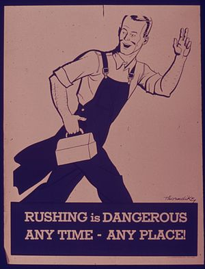 RUSHING IS DANGEROUS ANY TIME - ANY PLACE^ - N...
