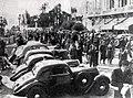 Rallye Monte Carlo 1936, les voitures exposées sur les terrasses du casino.jpg