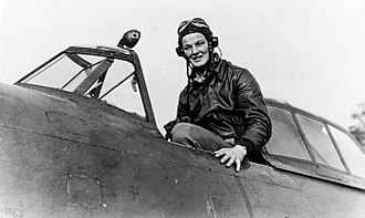 """4th Fighter Group - Triple ace Ralph Kidd Hofer in his P-47 Thunderbolt """"Sho-Me""""."""
