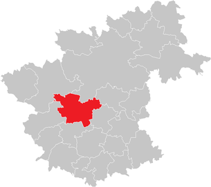 Location of the municipality of Rappottenstein in the Zwettl district (clickable map)