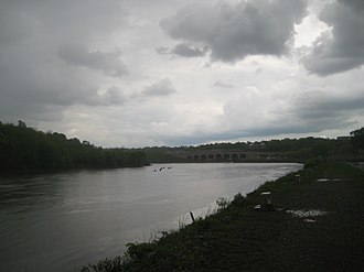 Elmer B. Boyd Park - Image: Raritan River and Route 18 from Boyd Park