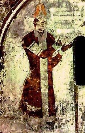Surameli - Rati Surameli. A fresco from the Vardzia church of Dormition.