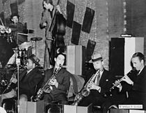 Ray Bauduc, Herschel Evans, Bob Haggard, Eddie Miller, Lester Young, Matty Matlock, Howard Theatre, Washington D.C., ca. 1941.jpg