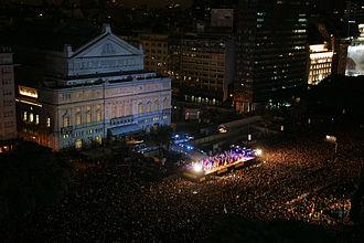 Argentina Bicentennial - Teatro Colón outdoor show.