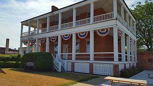 Commandant's Quarters (Dearborn, Michigan) - Rear of Commandant's Quarters