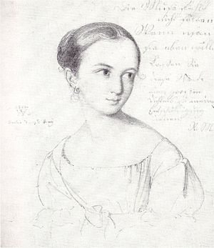 Peter Gustav Lejeune Dirichlet - Dirichlet was married in 1832 to Rebecka Mendelssohn. They had two children, Walter (born 1833) and Flora (born 1845). Drawing by Wilhelm Hensel, 1823