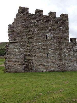 Turret (Hadrian's Wall) - A reconstructed Hadrian's Wall stone wall turret at Vindolanda