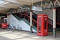Red telephone box, Rhyl railway station (geograph 4031424).jpg
