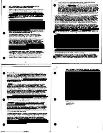Canadian Afghan detainee issue - Image: Redacted documents