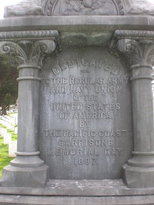 Army and Navy Union of the United States of America - The monument inscription at base
