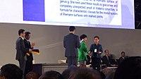 Remise de la médaille Fields à Maryam Mirzakhani.jpg