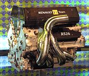 The Renault team's 2006 engine, the RS26. Renault's first V8 engine in Formula One.