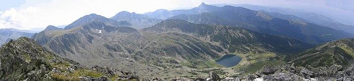 Retezat Vedere de pe Varfu Mare - 2463m