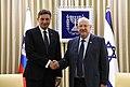 Reuven Rivlin Meets Borut Pahor, January 2020 (GPOHZA 1558).jpg