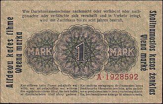 German ostmark - Image: Reverse Ostmark