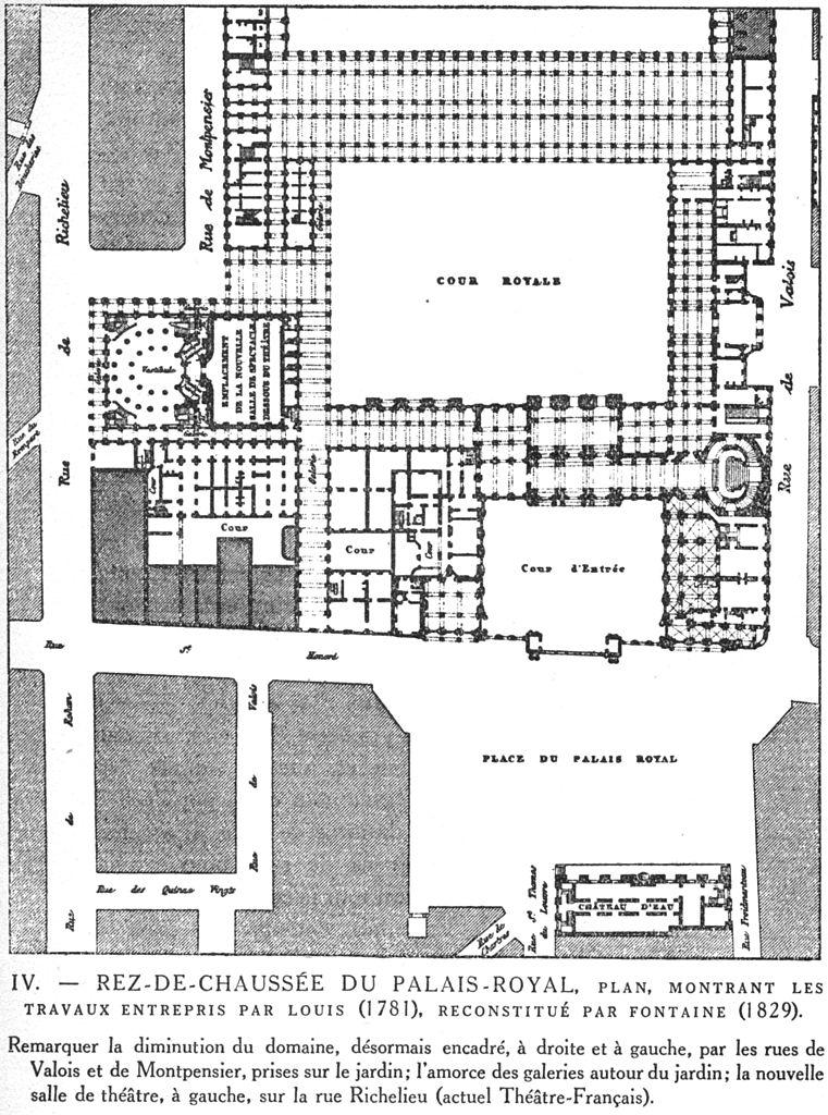 file rez de chauss e du palais royal c1790 plan. Black Bedroom Furniture Sets. Home Design Ideas