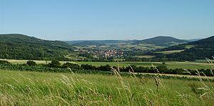 Rhön Mountains - Typical Rhön landscape near Tann, Hesse