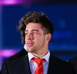 Rhys Webb - Webb at Wales Grand Slam Celebration in Senedd, 19 March 2012