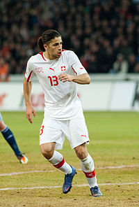 Ricardo Rodriguez - Switzerland vs. Argentina, 29th February 2012.jpg