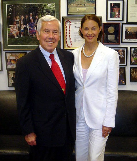 Richard Lugar and Ashley Judd