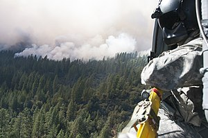 Rim Fire - California Army National Guard's 1–140th Aviation Battalion at the Rim Fire near Yosemite, August 22.