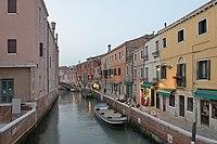 Rio di San Basilio tramonto a Venezia.jpg