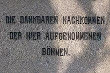 Gedenktafel in Böhmisch-Rixdorf, Berlin (Quelle: Wikimedia)