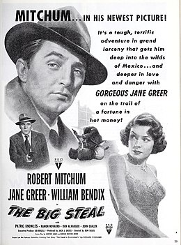 Robert Mitchum and Jane Greer in 'The Big Steal', 1949.jpg