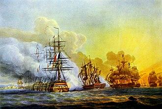 Robert Pollard (engraver) - Battle of Abukir (1798) by Robert Pollard