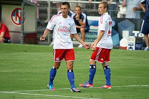 Maximilian Beister - Beister playing alongside Robert Tesche in 2012.