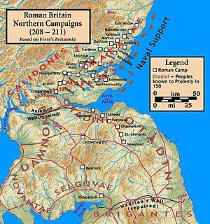 Roman invasion of Caledonia 208–210 - Image: Roman.Britain.Severa n.Campaigns