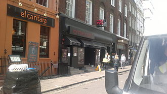 Ronnie Scott - Ronnie Scott's Jazz Club at 47 Frith Street, Soho, London.