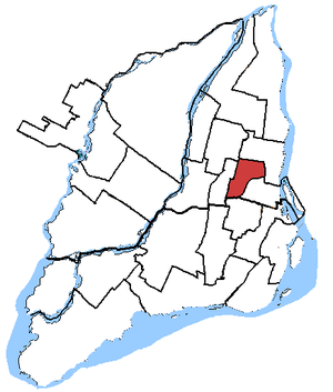 Rosemont—La Petite-Patrie - Rosemont—La Petite-Patrie in relation to other federal electoral districts in Montreal (2003 boundaries)