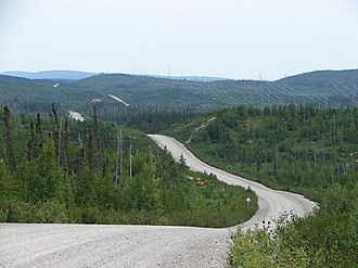 Route du Nord - The North Road winding its way through Quebec's wilderness